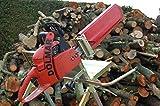 Sägebock Motorsägenständer Brennholzsäge Holzsägebock Metallsägebock mit Kettensägehalterung für Stämme bis 180 cm Länge