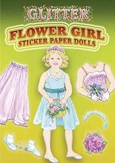 Glitter Flower Girl Sticker Paper Doll (Dover Little Activity Books Paper Dolls)