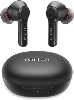 EarFun Air Pro 2 ワイヤレスイヤホン Bluetooth 5.2 ハイブリッド式ノイズキャンセリング ANC機能 外音取り込みモード ワイヤレス充電 34時間再生 IPX5防水 ENCノイズ低減技術 自動ペアリング 【大口径10...