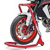 Caballete Moto Delantero a tija V5 Yamaha FZ1 06-15 Rojo