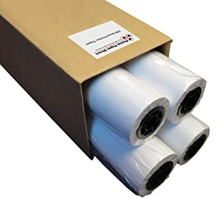 """Plotter Paper: 24 x 150, 4 roll box - 24"""" x 150 ft, 20 lb. Bond Paper on 2"""" Core. For CAD Printing on Wide Format Ink Jet ..."""