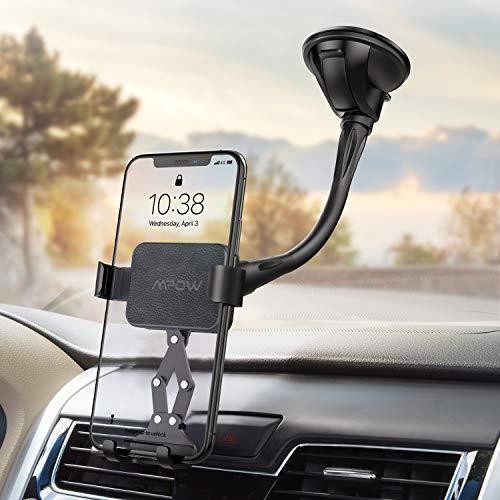 Mpow Porta Cellulare da Auto per Parabrezza, Supporto Gravità, Supporto Smartphone per Auto con Ventosa Durabile e Lavabile per iPhone, Samsung, Nexus, HTC, Motorola, Sony e GPS Dispositivi