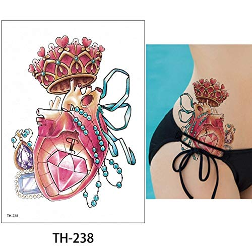 HXMAN 5pcs 14.8,21cm Glaryyears 24 Disegni Flower Arm Body Tattoo Sticker Th Temporary Leg Back Waist Art Tattoo Trucco Eagle TH-238