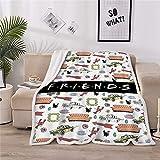 LOVINSUNSHINE Friends Merchandise Blanket Women Tv Show Blankets Friends Tv Show Sherpa Blanket Friends Tv Show Blankets Friends Gifts Tv Show Blanket for Couch Bed 50x60 -