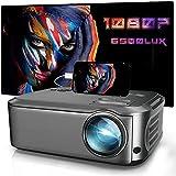 DOOK Proyector Cine en Casa 6500 Lúmenes, Proyector LCD Full HD Nativo 1080P, Soporte Corrección Trapezoidal de ± 15 ° y Función de Zoom de -75% para Teléfono Inteligente/PC/TV Box/Laptop/PS4