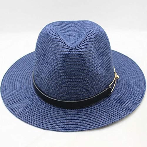ZXCVBM Sonnenhut Sommer Hüte Für Frauen Männer Unisex Stroh Strand Panama Hut Eimer Hut ChapeauReise Urlaub Meer Neu