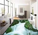 Mkkwp 3D Outdoor Montagna Flussi Creek Paesaggio Piano Terra Indossare Antiscivolo Impermeabile Pavimentazione Bagno Murale-450x300cm