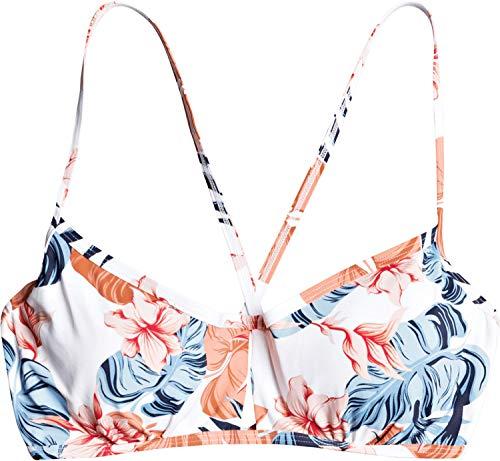 Roxy Junior's Printed Beach Classics Underwire D Cup Bikini Top, Bright White Standard Sample, M