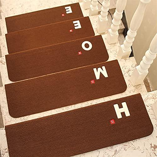 5 PCS Stair Pisadas Aparabas antideslizantes Luminosa Alfombra interior Escalera de la escalera Pisada Pisada Stair Alfombras Brillantes Mats Ballas de goma para niños mayores y mascotas con adhesivo