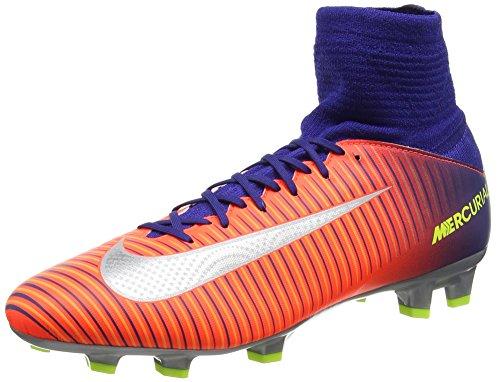 Nike Nike Unisex-Kinder Jr Mercurial Superfly V Fg Fußballschuhe, Mehrfarbig (Deep Royal Blue/total Crimson/Bright Citrus/Chrome), 36.5 EU