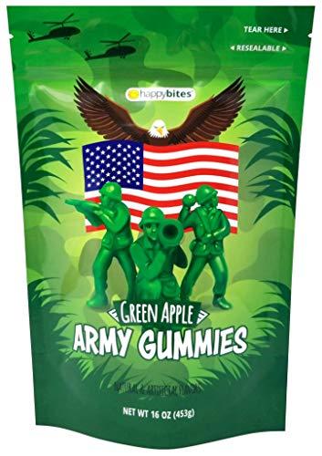 Happy Bites Green Apple Army Gummies