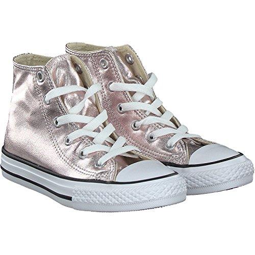 Converse Mädchen Chuck Taylor All Star Metallic High Hohe Sneaker, Pink (Rosegold/Weiß Rosegold/Weiß), 28 EU