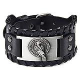 TURTLEDOVE Viking Bracelet Odin's Raven - Crow Animal Bracelets of Norse Mythology Amulet - Scandinavian Talisman for Midgard Pagan