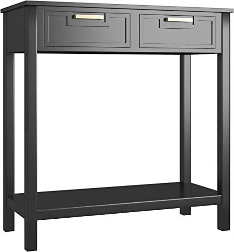 popular Giantex Console Sofa Table with 2 Drawers and Bottom Shelf, Entryway Table with Solid Wood Legs for Living Room Bathroom Hallway outlet sale Foyer, 110 LBS Weight 2021 Capacity (Black) outlet online sale