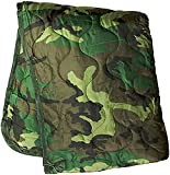 PacMül Military Woobie Blanket - Thermal Insulated Camping Blanket, Poncho Liner – Large, Portable, Water-Resistant, for Hiking, Outdoor, Survival, Comes with Compression Carry Bag (Woodland Camo)