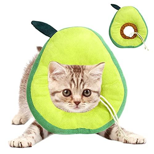 QSXX Collar Labelino Gato, 1 Pieza Collares de Recuperación para Gatos,Collar Ajustable para Recuperación de Gatos Antimordeduras y Recuperación de Heridas Isabelina,Collar de Borde Suave