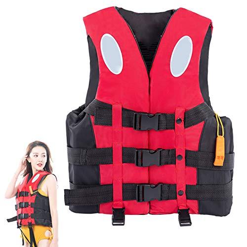 Chaleco Salvavidas EPE Pearl Algodón 400D Tela Oxford 150N Jacket de Vida 6 tamaños para Deportes acuáticos,XXL