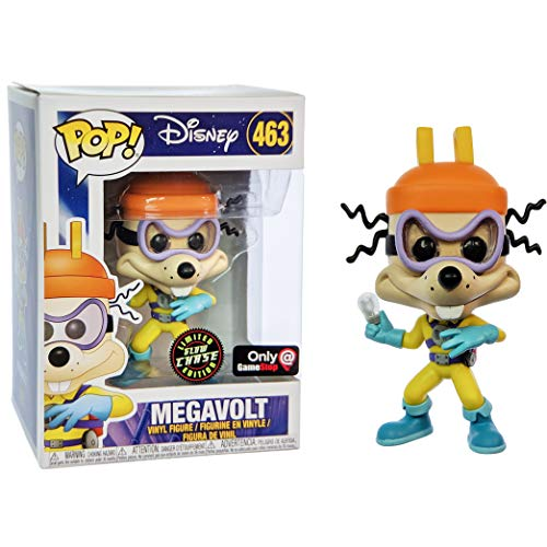 Megavolt [Glow-in-Dark] (GameStop Chase Exc): Funko Pop Vinyl Figure & 1 Compatible Graphic Protector Bundle (34825 - B)
