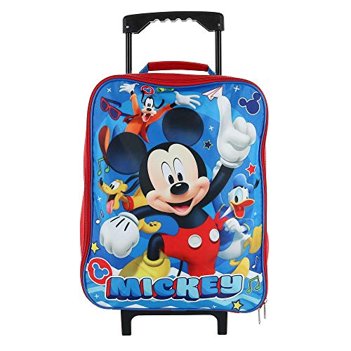 Disney Junior Mickey And The Roadster Racers 15' Collapsible Wheeled Pilot Case - Rolling Luggage
