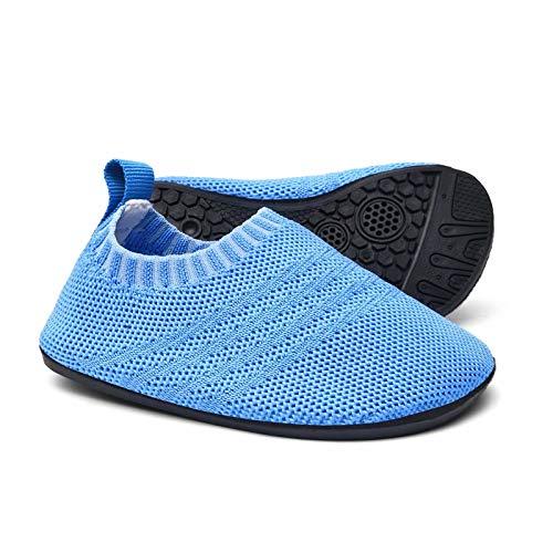 Sosenfer Kinder Hausschuhe Jungen mädchen Anti-Rutsch Sohle Kleinkinder Schuhe Baby Slipper Unisex-LANQIAN-29