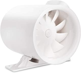 6 Inch 280 CFM Silent Inline Duct Booster Fan, Low Noise HVAC Mixed Flow Fan Quiet Energy Efficient Ventilation Blower, for Air Circulation in Ducting, Vents, Grow Tents, Indoor Grow Rooms
