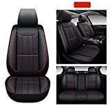 AOOG Leather Car Seat Covers, Leatherette Automotive Vehicle Cushion Cover...