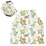 Fundas para asiento de coche de bebé con diseño de tortugas dinosaurios: cubierta para carrito de la compra, toldo multiusos para asiento de coche, para niños y niñas, regalo de ducha