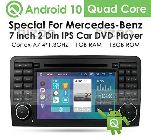 Android Car Radio GPS Navi Reproductor de DVD con Pantalla táctil de 7 Pulgadas Compatible con Mercedes-Benz ML-Class W164 (2005-2012) GL-Class X164 es Compatible con Bluetooth Radio Subwoofer
