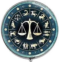 Steampunk Libra Zodiac Astrological Sign Astrology Art Photo Box/case - Three - Compartment Pill Box/Pill case
