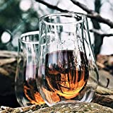 Snute Nosing Whiskey Glasses - Double-wall Insulated Crystal Whiskey Glass - Gift for Whiskey Lovers - Set of 2