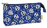 MILAN Portatodo 5 Compartimentos Bats&Bites Azul Estuches, 22 cm, Azul