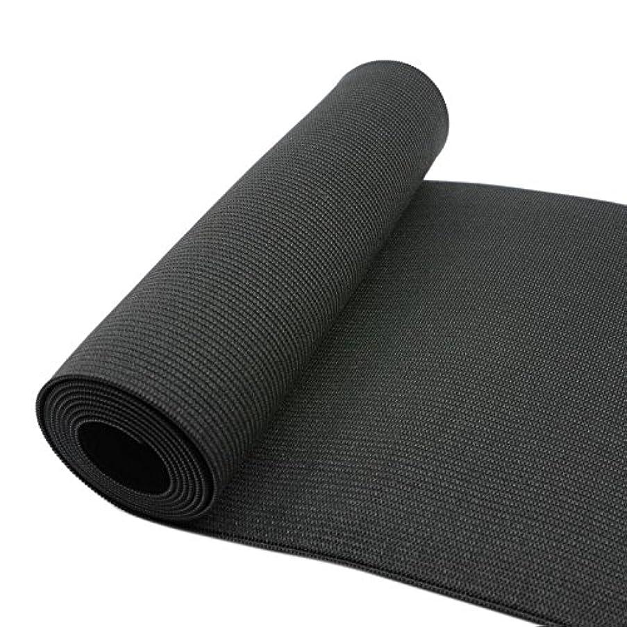 iCraft 7 7/8-Inch Wide by 2-Yard Black Heavy Stretch Knit Elastic 74030