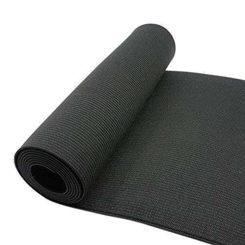 iCraft 6-Inch Wide by 2-Yard Black Heavy Stretch Knit Elastic 74060