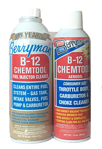 Berryman 01106-0110C B-12 Chemtool Fuel Injector Cleaner and B-12 Chemtool Carburetor Cleaner Twin...