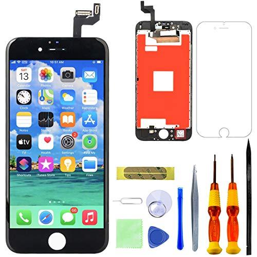 "GULEEK Pantalla para iPhone 6s 4,7"" Pantalla táctil LCD Pantalla de Cristal Reemplazo del Marco del digitalizador con Herramientas de reparación (Negro)"