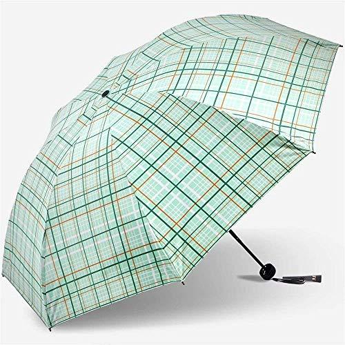 DZNOY Paraguas, Verano Paraguas al Aire Libre, Paraguas de la Red de la Moda, Paraguas de protección Solar UV, Paraguas de Regalo sombrilla (Color : Green)