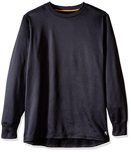 Carhartt Men's Big & Tall Base Force Extremes Super-cold Weather Crewneck Sweatshirt, Black, 2X-Large/Tall