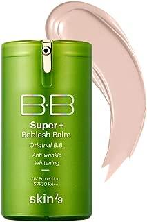 SKIN79 Super Plus Beblesh Balm Triple Function Green BB (SPF30/PA++) 40g - Anti Wrinkle, Whitening, Light Beige (No.21) For a brighter skin / Made in Korea