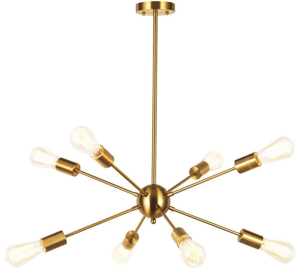 Or-8 Lampe EDISLIVE 8-Lampe Vintage Plafonnier Lumi/ère Pendante Industriel /Éclairage de plafond Lampe Lustre Suspension Luminaire pour Chambre Salon