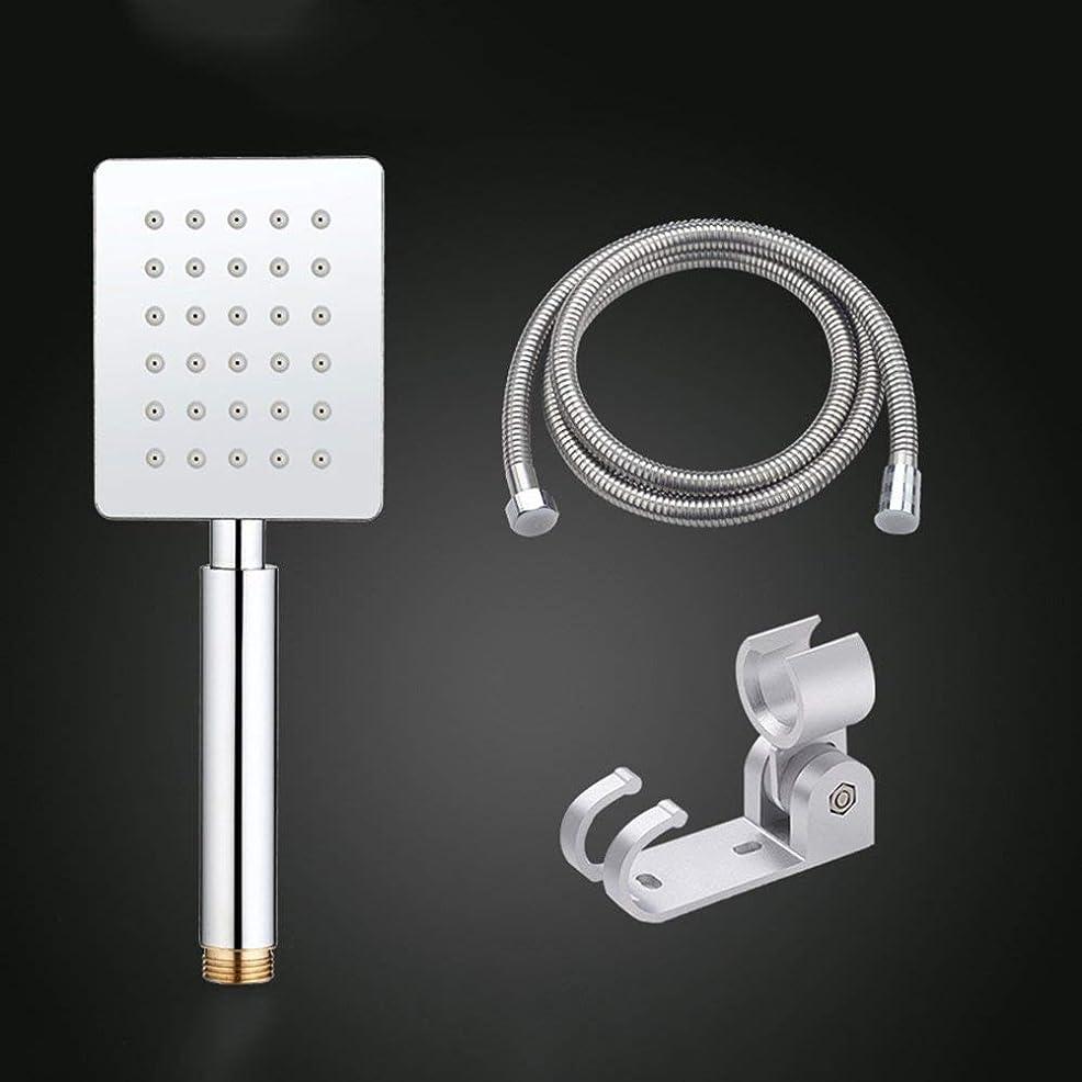 悪行振りかけるハイジャック実用的なハンドシャワー 304ステンレス鋼加圧シャワーノズルシャワーホースブラケットセット大きな水浴室浴室雨を取るシャワーフラワーヘッド (Color : 4)