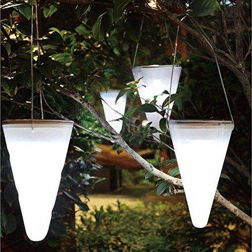 Broadroot Wasserdicht Hängende Laternen Schnur Outdoor Garten Yard-Bahn LED Licht-Lampe (Kaltweiss)