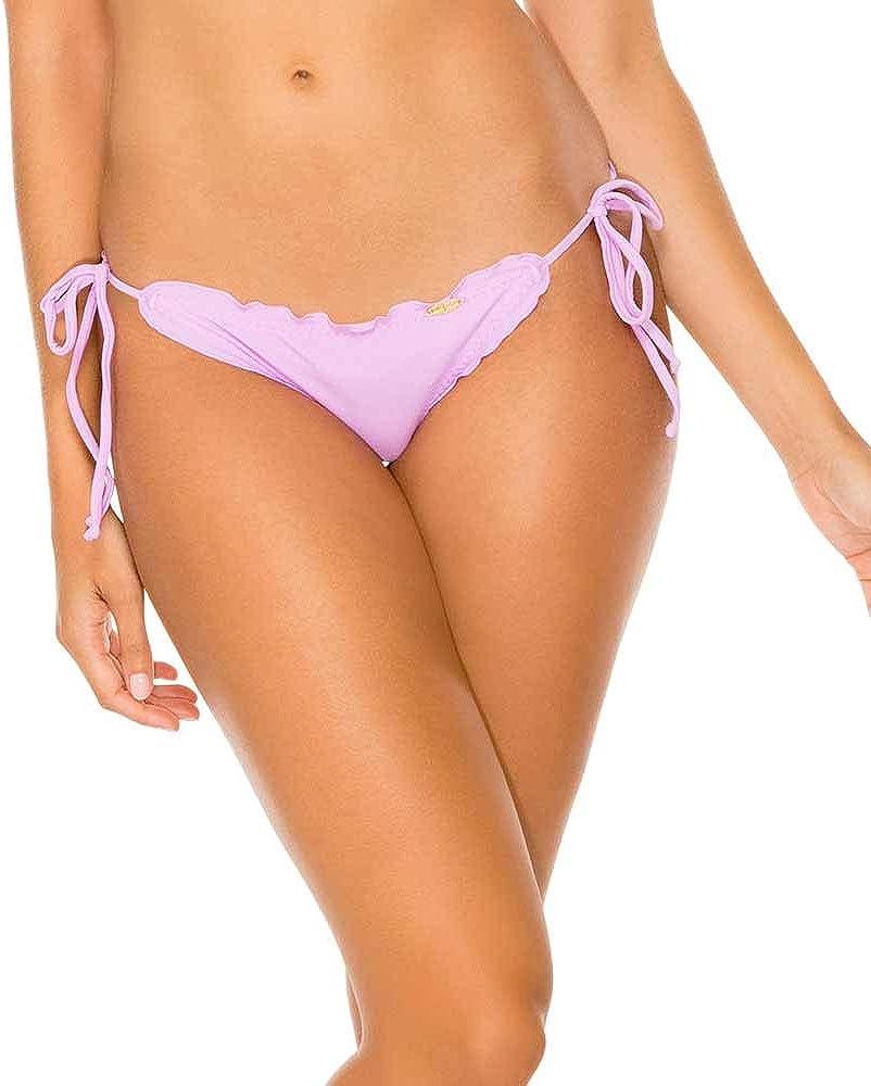 Luli Fama Women's Standard Cosita Buena Wavey Brazilian Tie Side Ruched Back Bikini Bottom