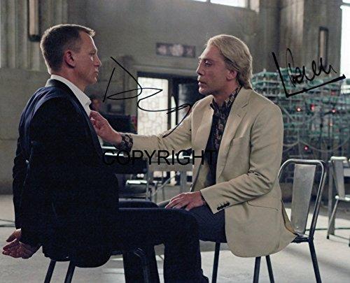 Daniel Craig James Bond firmato fotografia edizione limitata + stampato Autograph