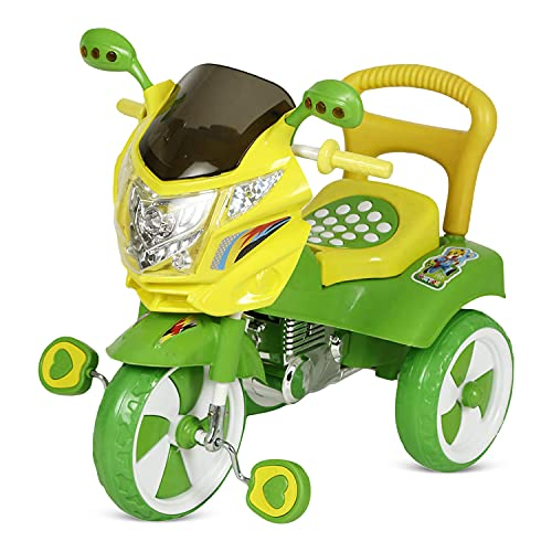 Dash Stylish Kids Tricycle , tricycles , Kids Cycle , Ride on for boy and Girl for 2 to 5 Years with Under seat Storage Space, Lights and Music (Green)