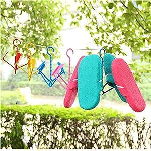Froiny Plegables De Plástico para Colgar Pie De Cerco Tendedero Zapatos Percha Color Azar