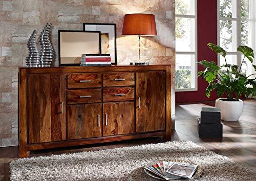 MASSIVMOEBEL24.DE Sheesham Massivholz lackiert Möbel Life Honey Sideboard Palisander Massivmöbel massiv Holz Metro Life #123