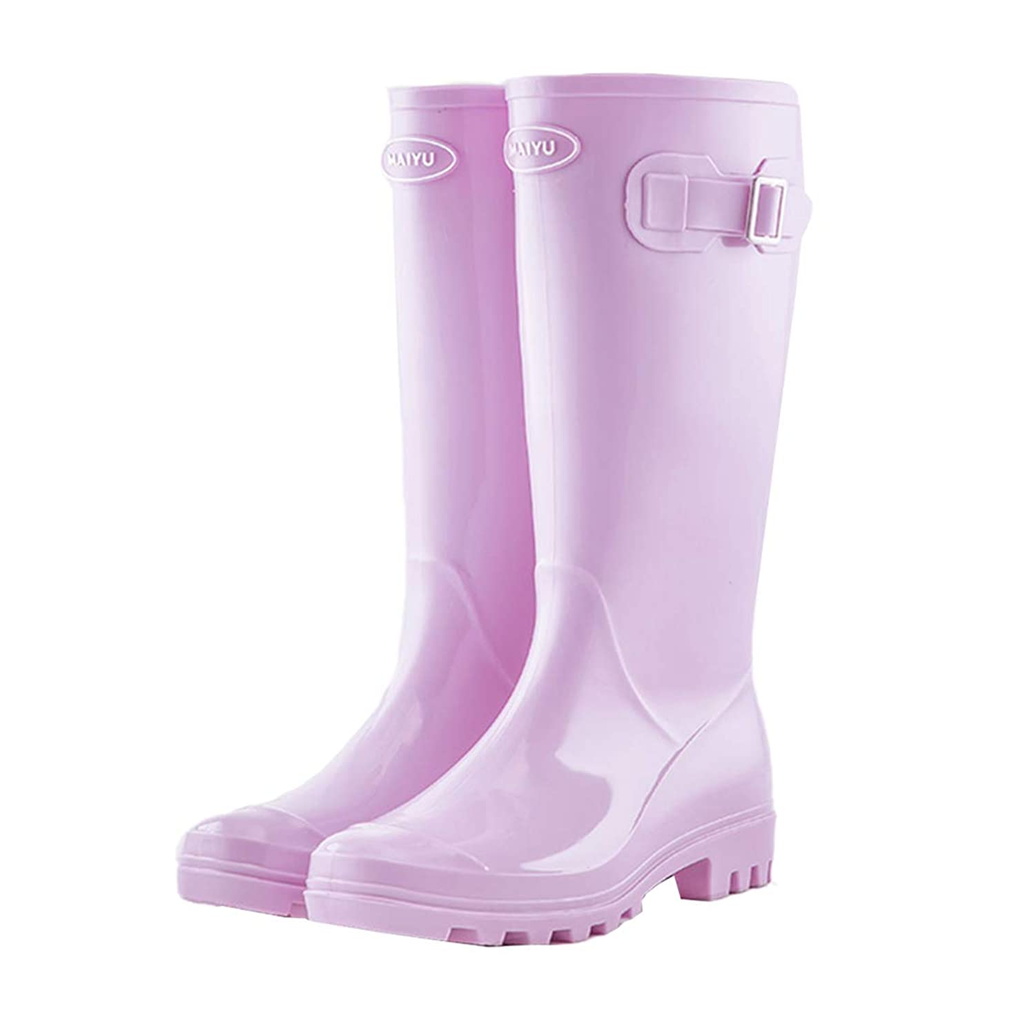 あなたは頭痛ひばり[Cnstone] レインブーツ レディース ロング 筒高 長い レインシューズ ラバーブーツ 雨靴 長靴 おしゃれ 無地 防水 梅雨対策