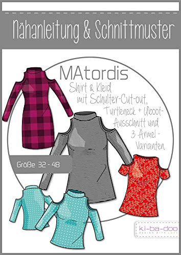 Schnittmuster kibadoo Turtleneck Shirt/Kleid MAtordis Papierschnittmuster