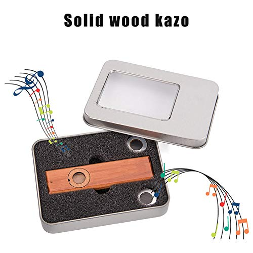 Madera maciza Kazoo instrumentos musicales ukelele guitarra pareja regalo con caja para amantes de la música XR-Hot
