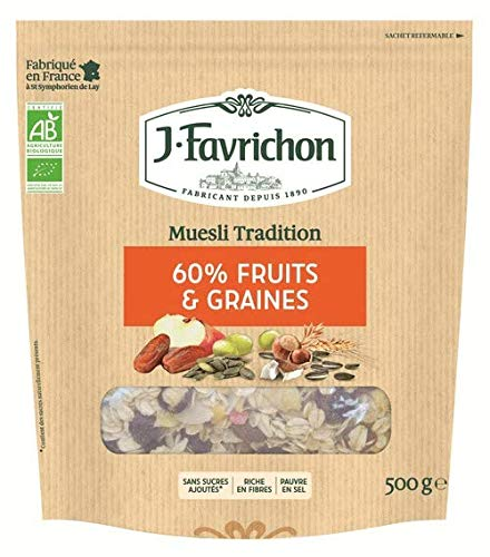 FAVRICHON - MUESLI TRADITION FRUITS ROUGE 500G